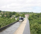 The Pontcysyllte Aqueduct on the Llangolen canal