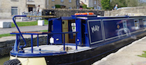 The S-May canal boat